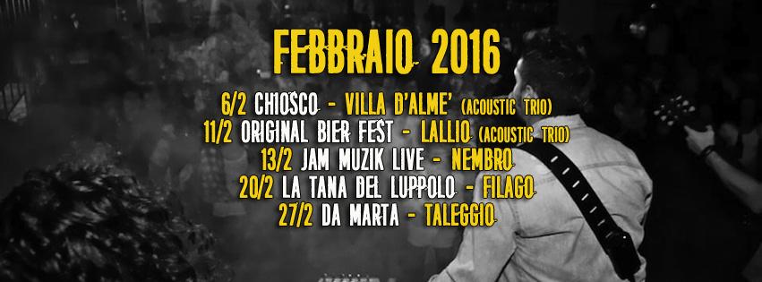 Ligastory band tributo Ligabue concerti febbraio 2016